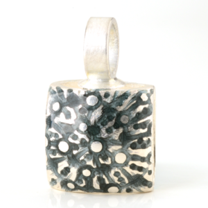 Anhänger Kissen Spirale Granit/Karibik