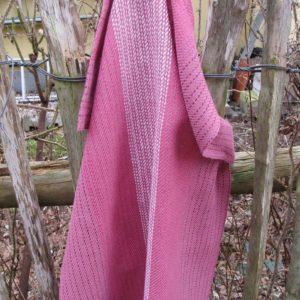 Handgewebtes Handtuch mit Farbverlauf altrosa