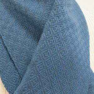 Schal handgewebt jeans-blau