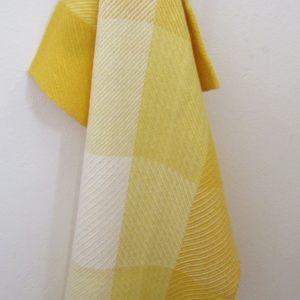 Handgewebtes Handtuch mit Karos