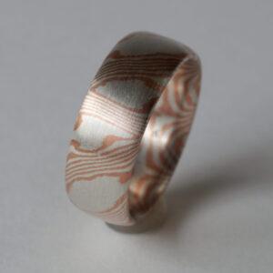 Mokume Gane Ring, Kordelstreifen