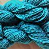 BluefacedLeicester Wolle 2 Stränge türkisblau handgesponnen