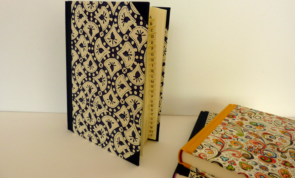 Buchbinderei Produkte Adressbücher