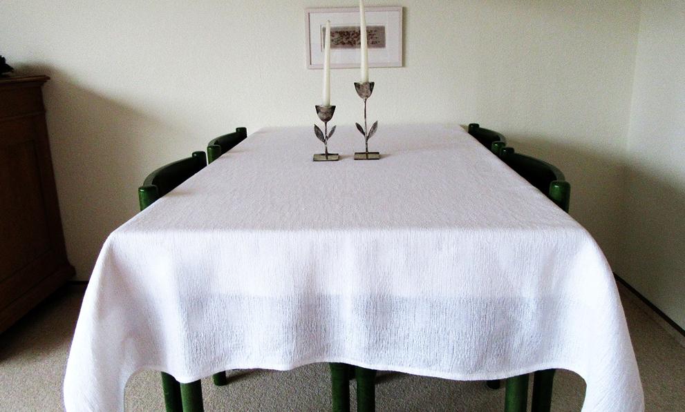 Handweberei Tischdecke Gerstenkorn