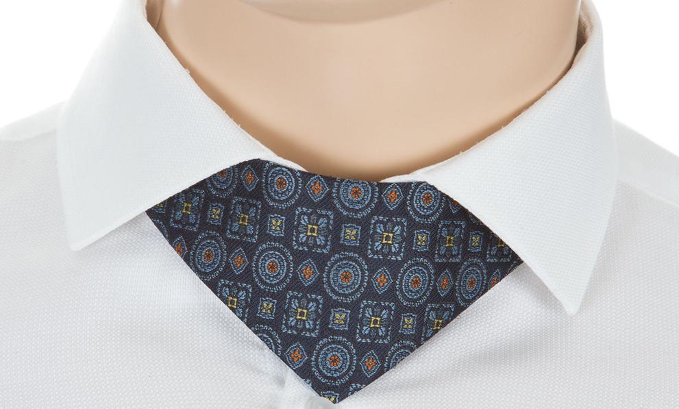Herren Fliege No-Tie blau