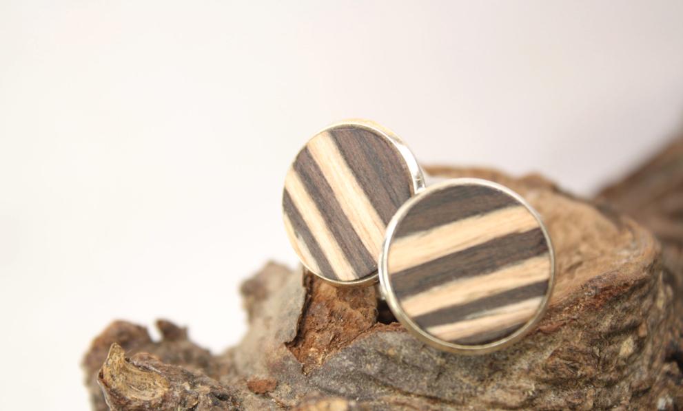 Holzkunst Manschettenknöpfe