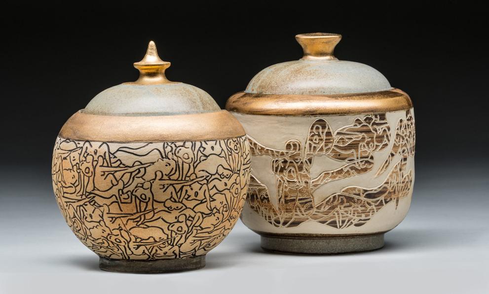 Deko shoppen: Keramikdose mit Deckel