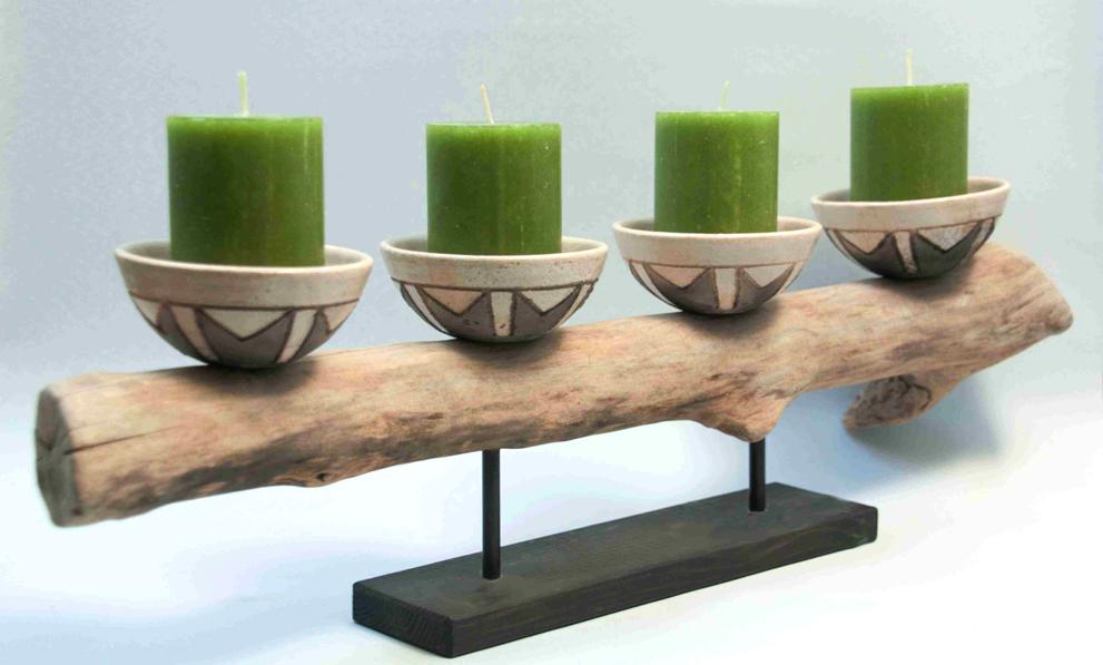 Deko kaufen: Kerzenleuchter aus Keramik