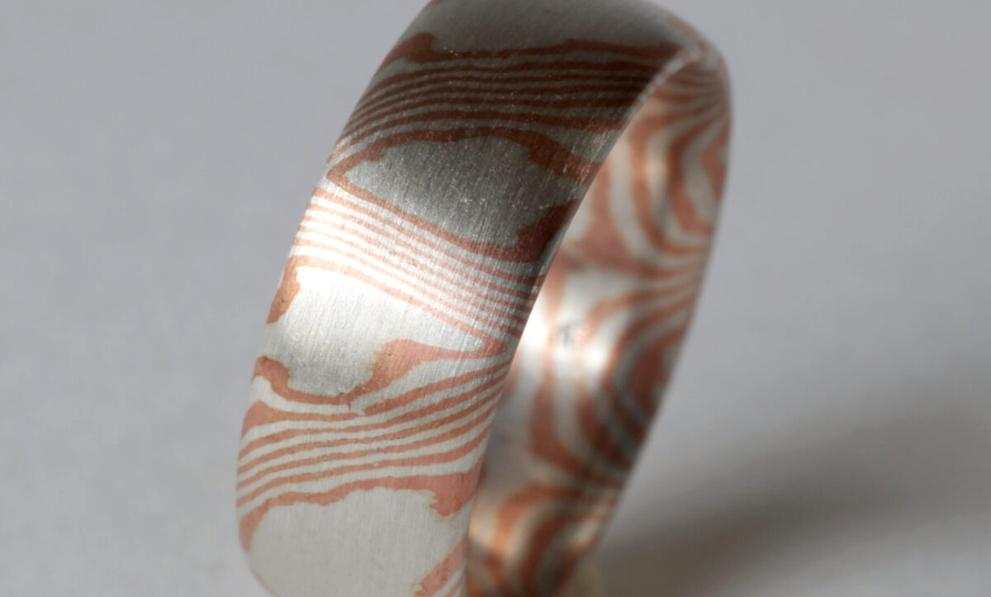 Silberschmuck: Mokume Gane Ring