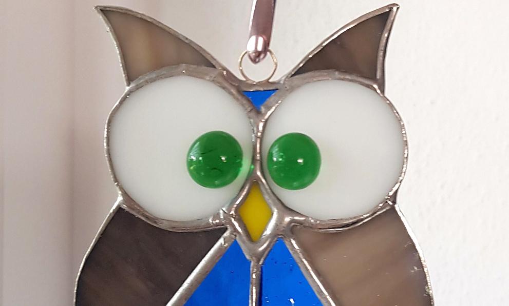 Tiffany Glaskunst Eulen