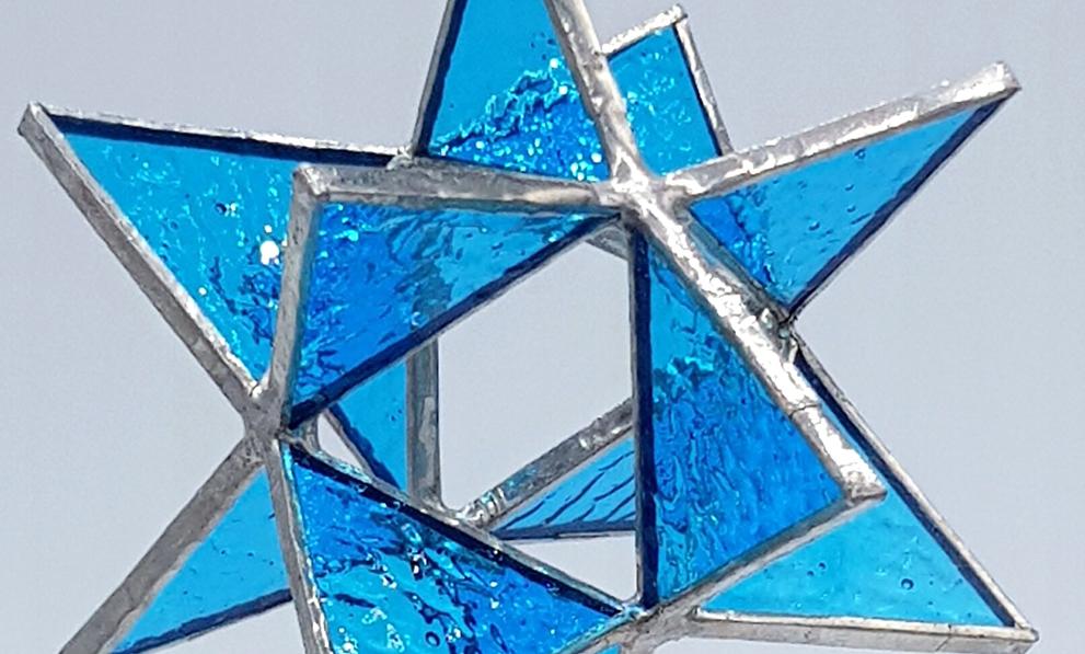 Tiffany Glaskunst Stern blau
