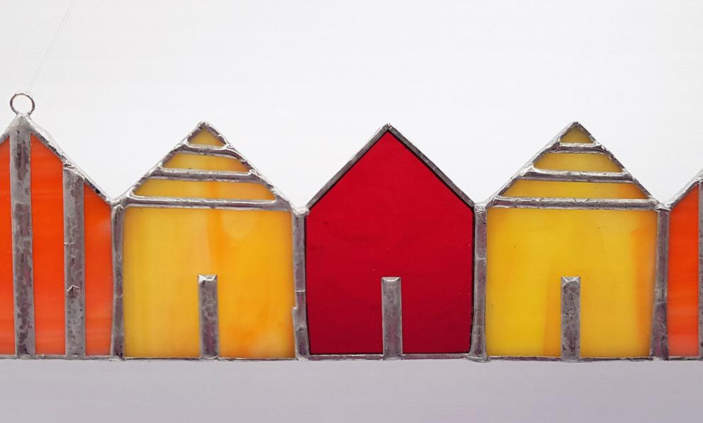 Tiffany Glaskunst Strandhäuser