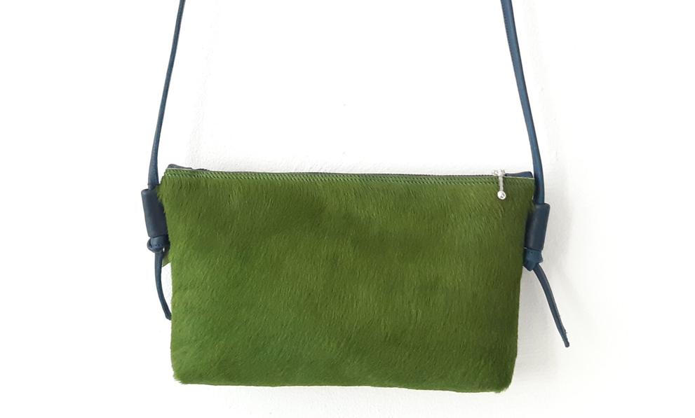handgemachte Taschen Umhängetasche grün