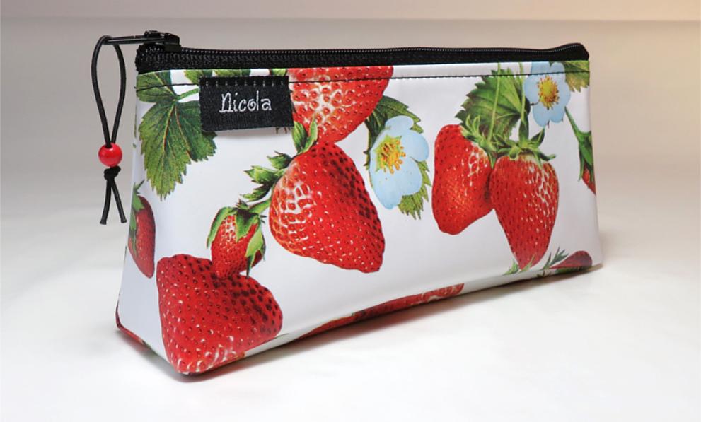 Kulturbeutel Kosmetiktasche Erdbeere